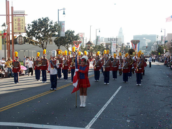 Parade is under way but we\'re doing the ol\' stop and go